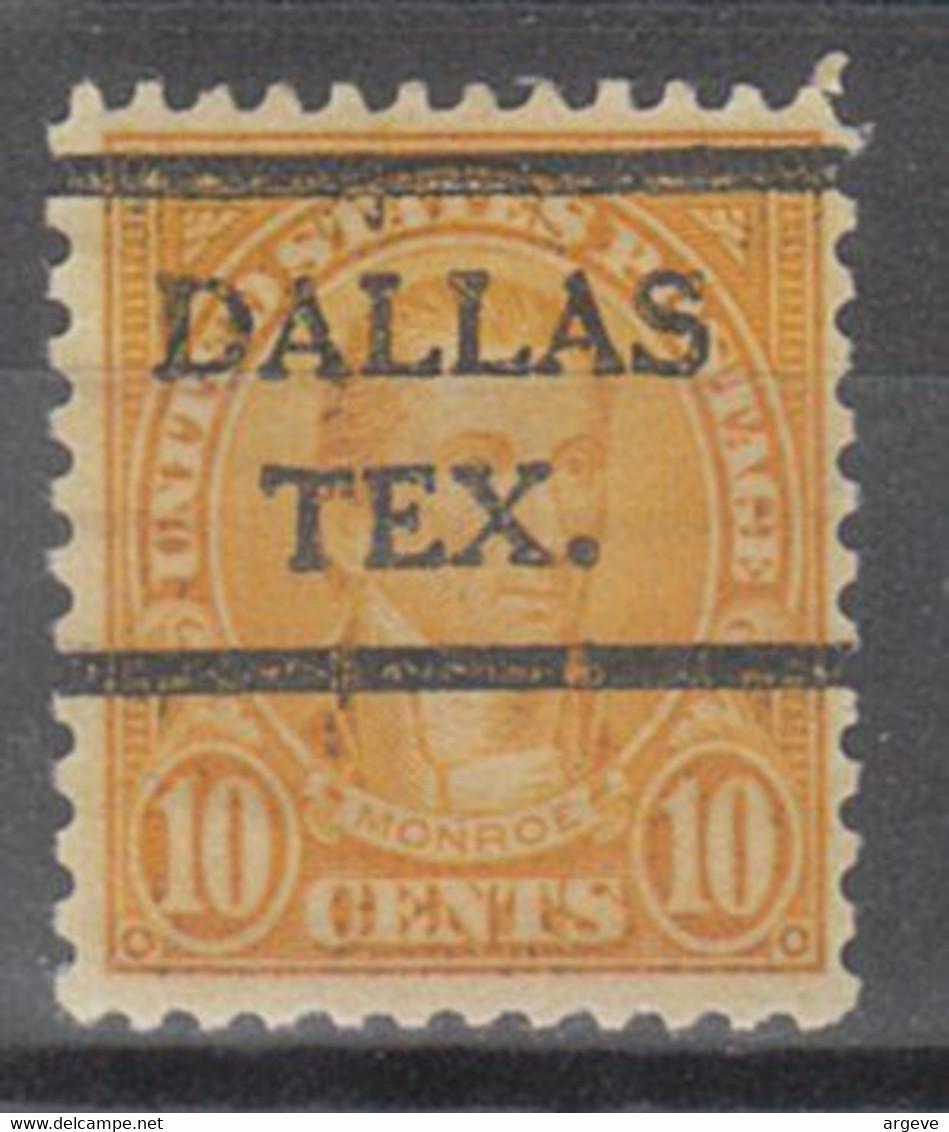 USA Precancel Vorausentwertung Preo, Bureau Dallas 642-41 - Precancels