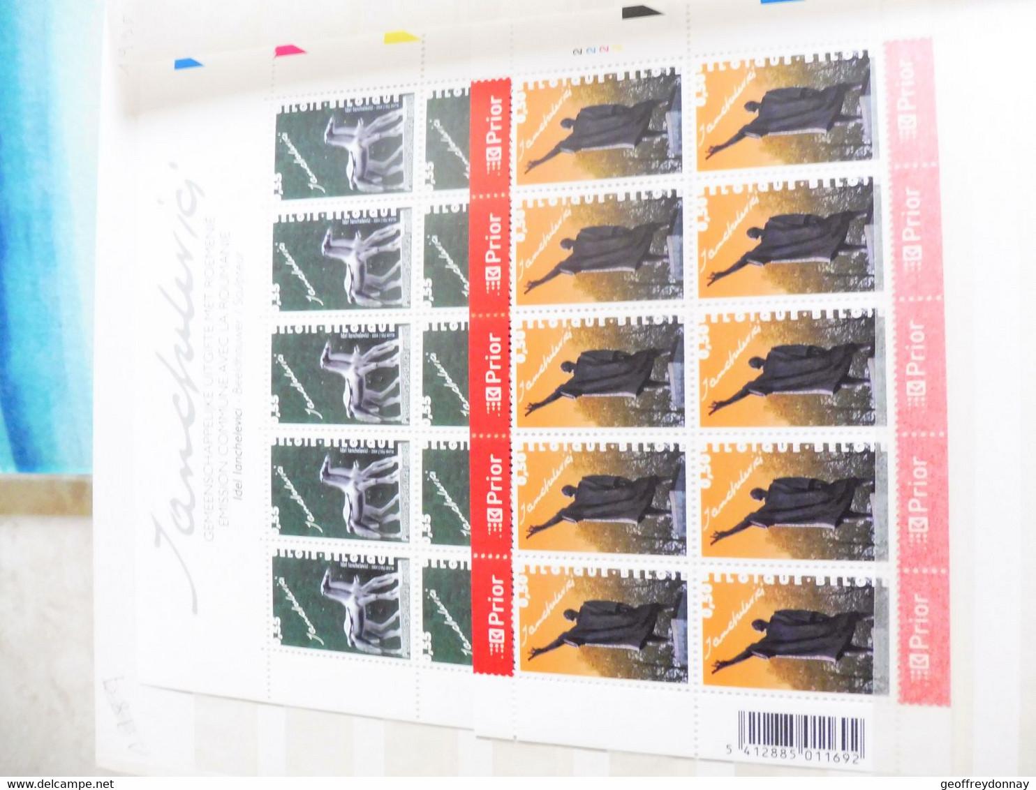Belgique Belgie Kleine Blad Petite Feuille Numero 3308/09  ( Année 2004 ) Planche 2-1 - Hojas Completas