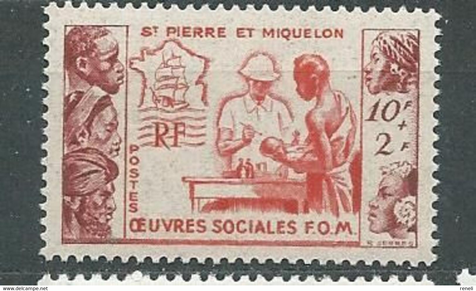SAINT-PIERRE-ET-MIQUELON  N° 344 ** TB 1 - Unused Stamps