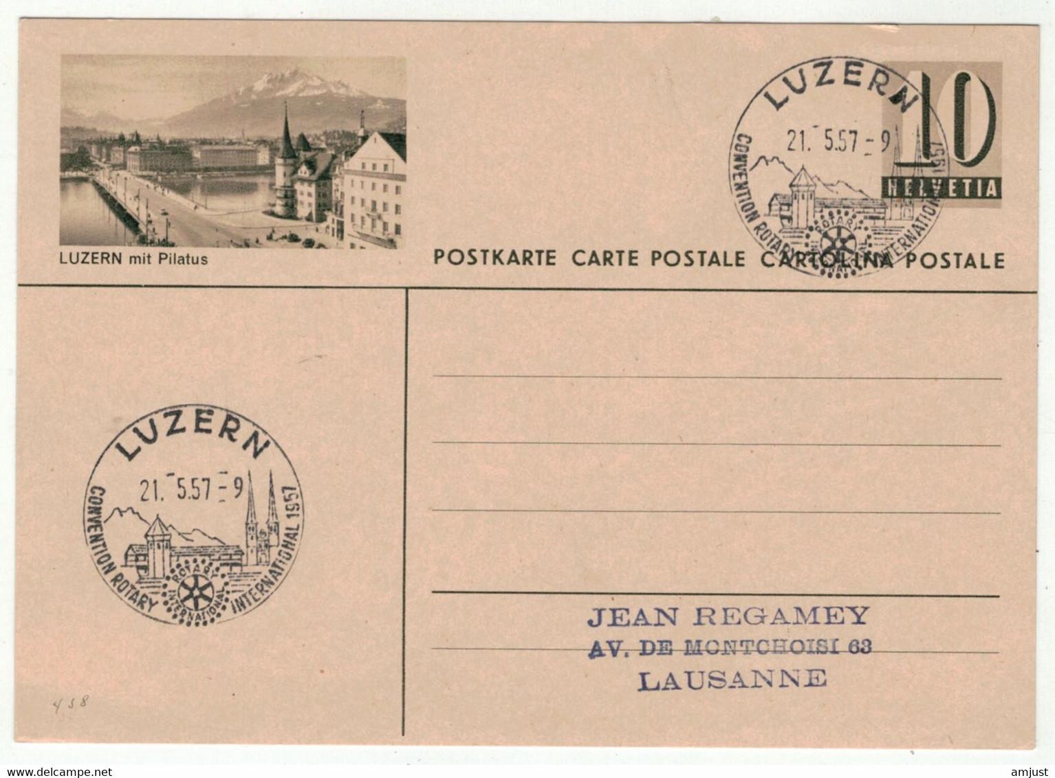 Suisse // Vaud // Entier Postaux // Entier Postal, Luzern (S438) - Stamped Stationery