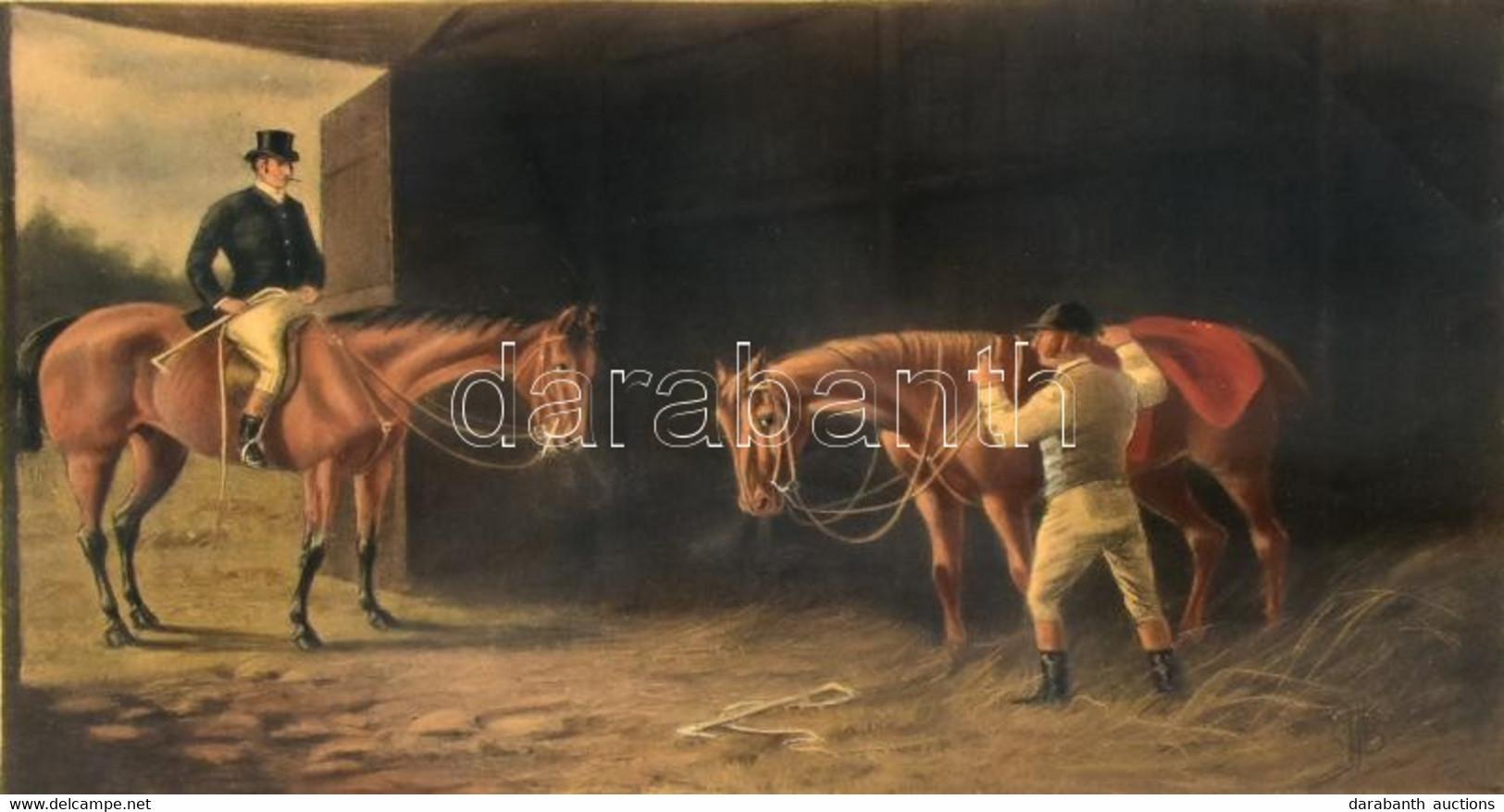Cecil Boult (1819-1895) Festménye Után: I Should Say Your Horse Woulkd Die. Színes Litográfia, Papír, Kasírozva, Lap Alj - Gravures