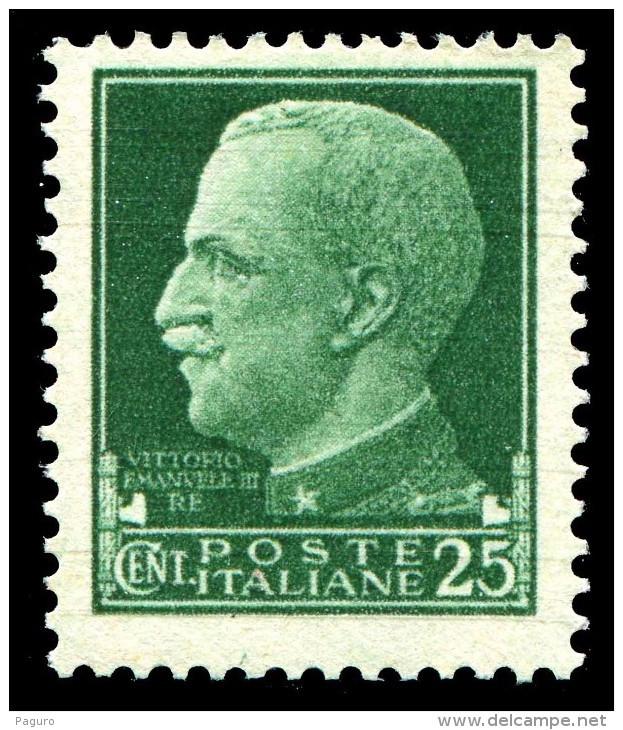 REGNO 1929 Serie Imperiale Effige Di V.E.III Cent. 25 C. MNH ** Integro - Nuevos