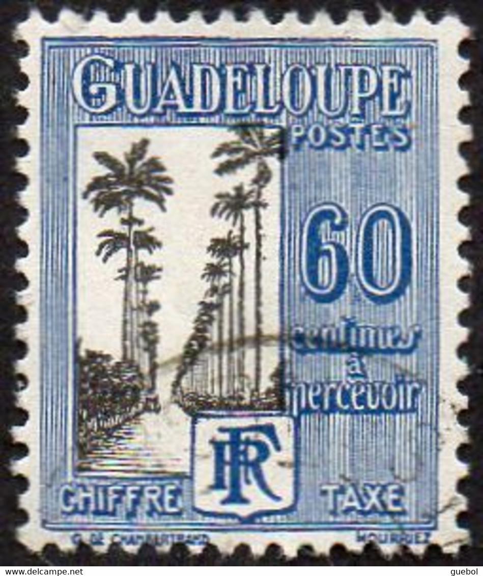 Guadeloupe Obl. N° Taxe 34 - Allée Dumanoir, à Capesterre, 60c Bleu Et Noir - Impuestos