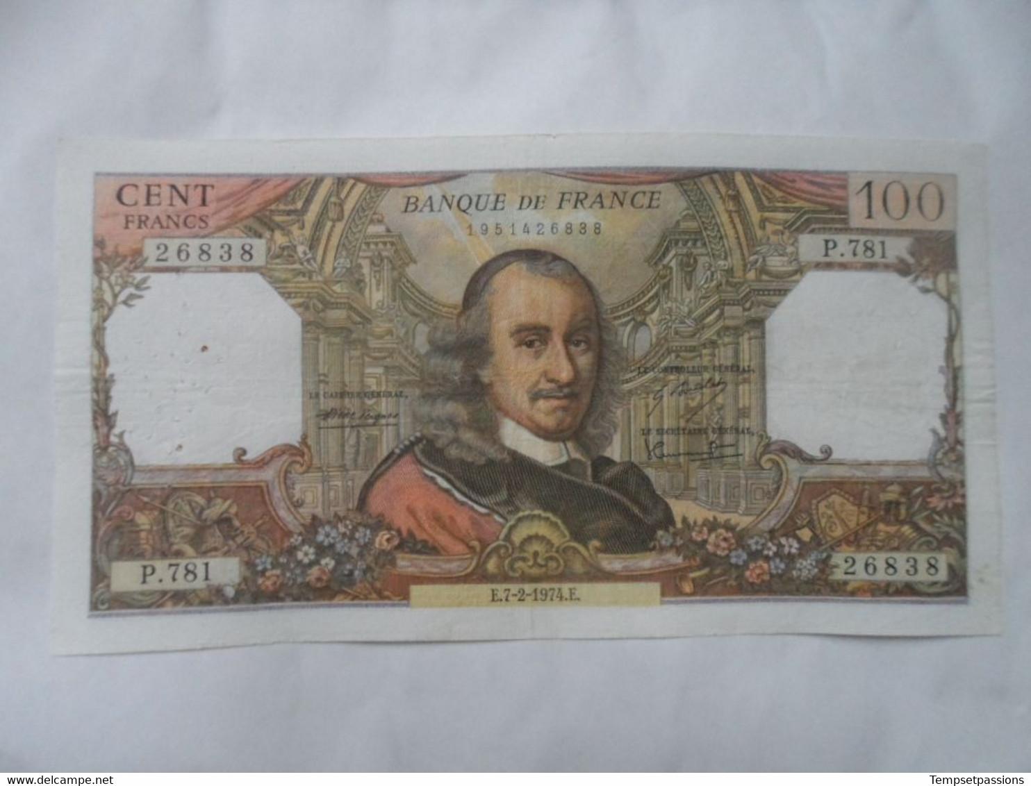 Billet De 100 Francs 1974 Corneille // P.781 - 100 F 1964-1979 ''Corneille''