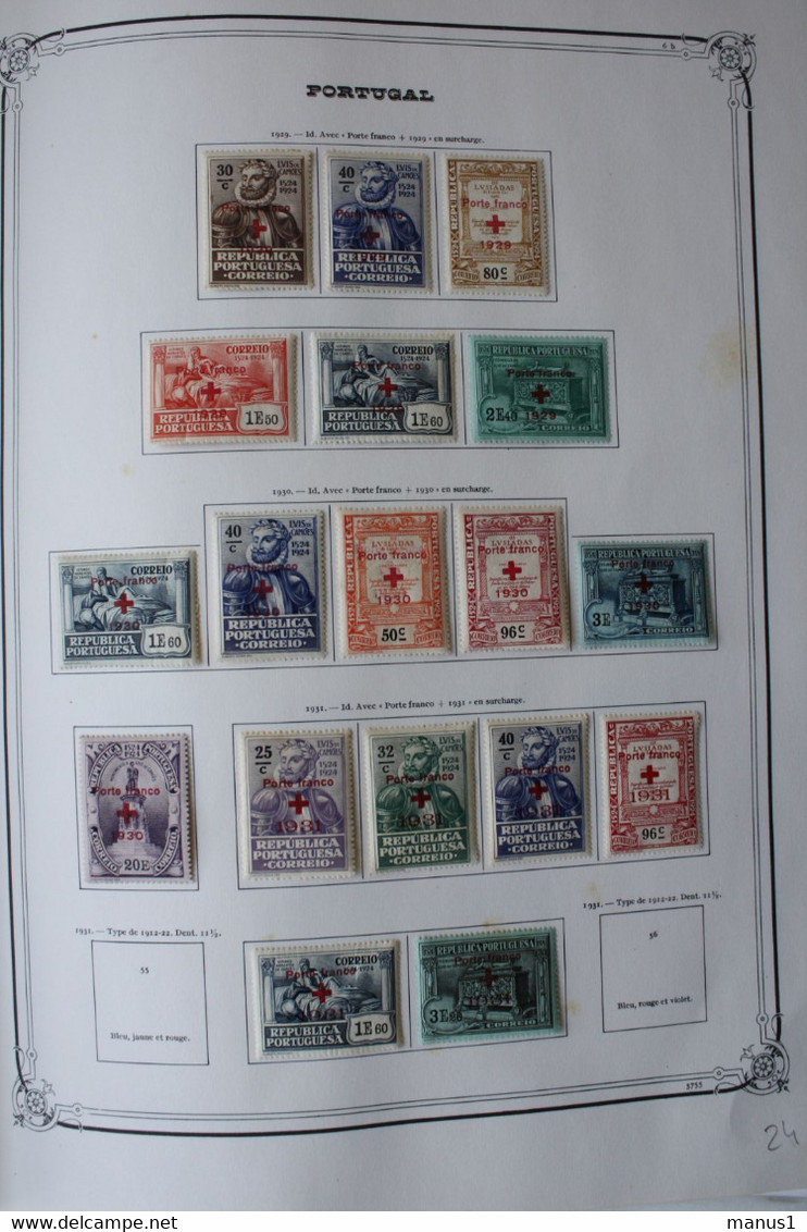 Collection Portugal 1853 - 1981 TB Très Complète Obl/*/** à 7% Cote Minimum 14000€ - Envoi MR Offert - Sammlungen