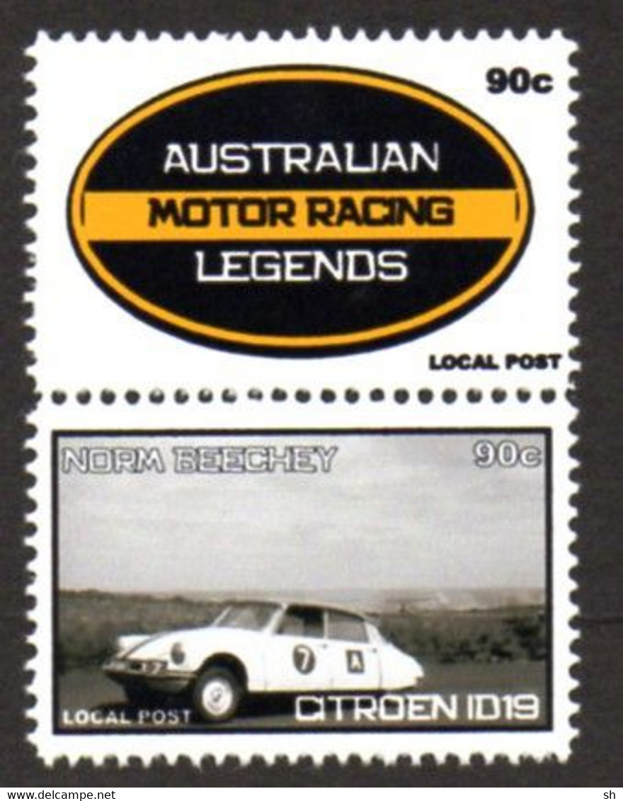 Australie - Australia - Rallye - Citroen ID19 - Rally - Norm Beechey - Poste Locale - Local Post - Cars