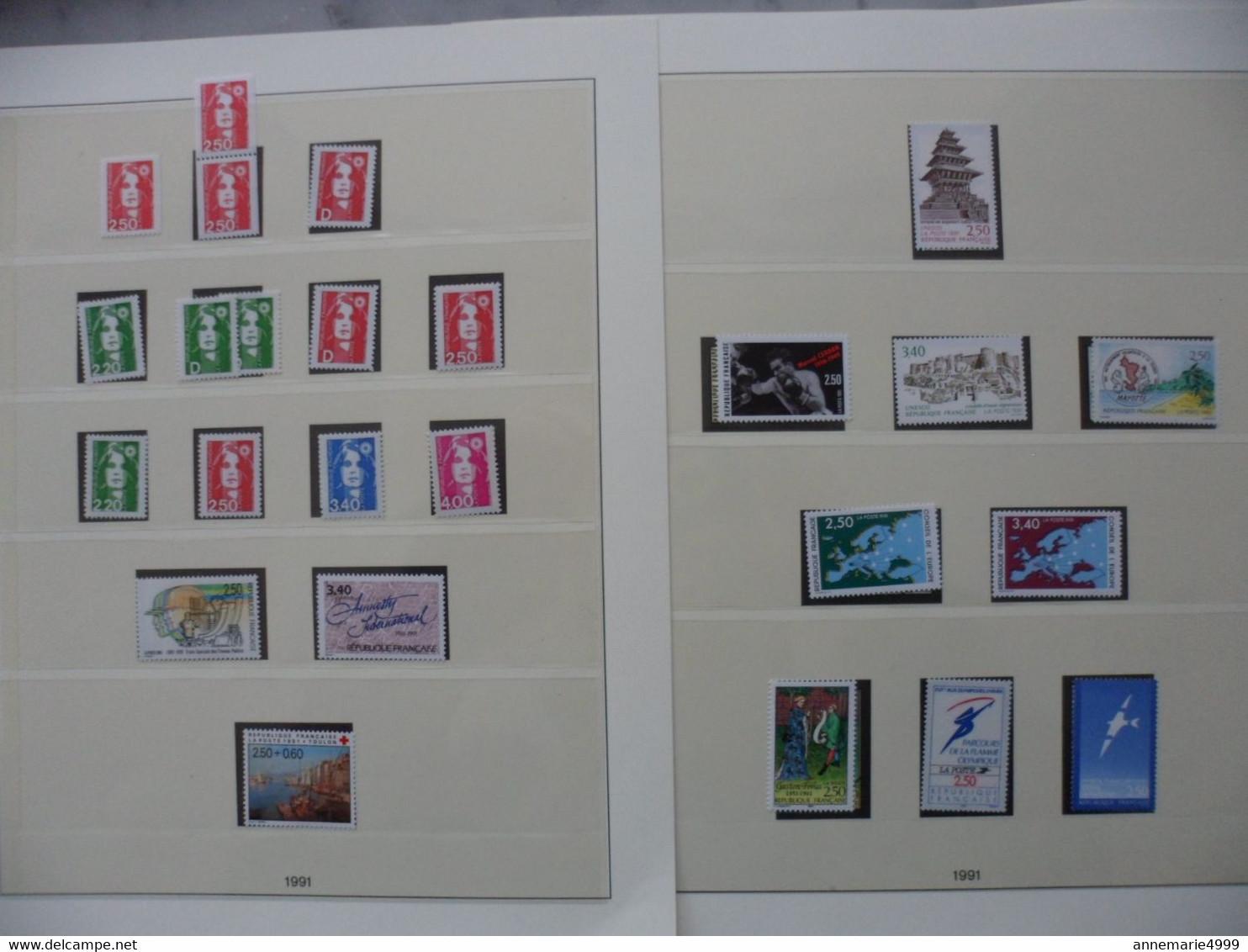 FRANCE Timbres Année 1990 à 1999  Neufs Sans Charnière Faciale  401 €  Moins 55 % Voir Scans - Collections