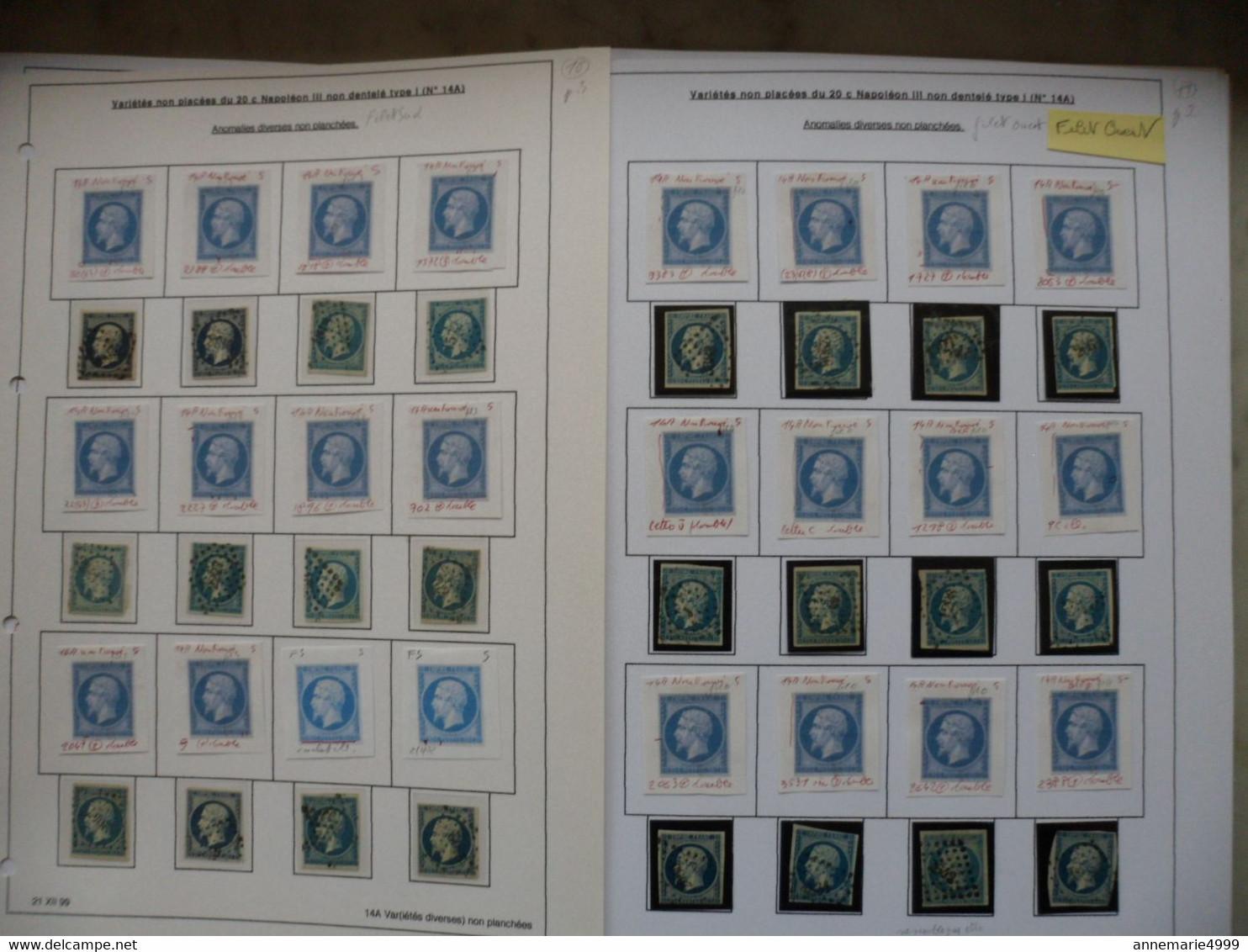 """FRANCE Classique N° 14 Pour Recherche """"variétés Avec Anomalies Diverses"""" Pour PLANCHAGEVoir Scans Et Commentaire - 1853-1860 Napoleon III"""