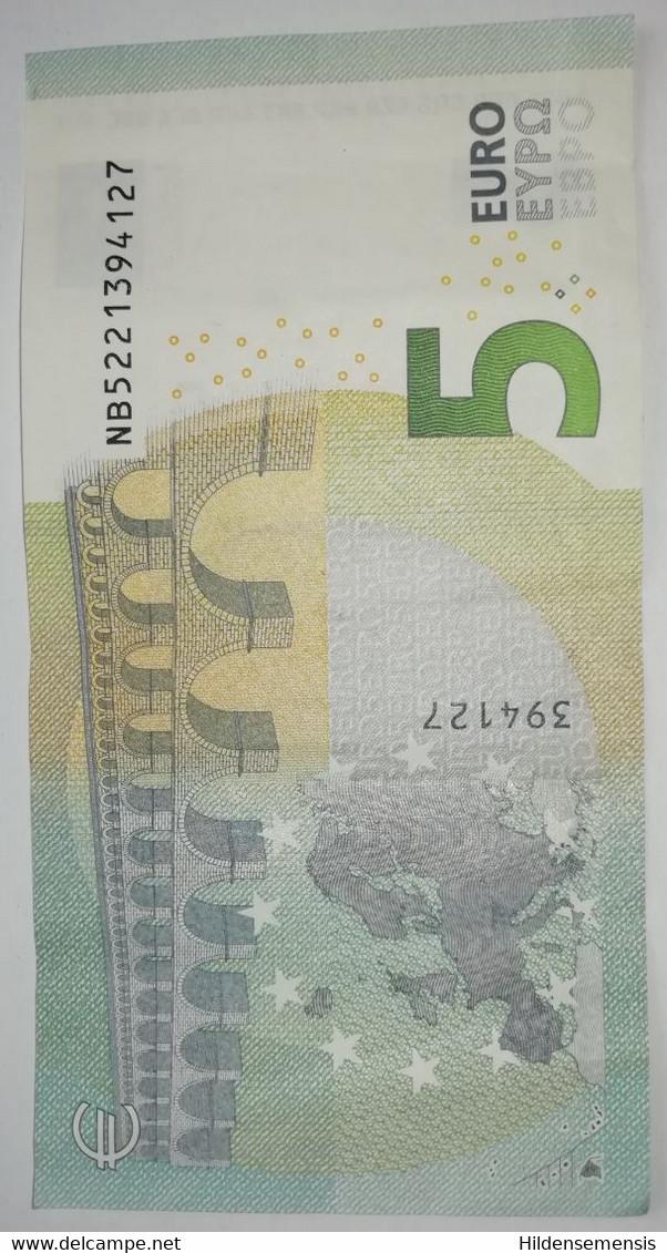 5 Euro € Banknote Draghi N019B5 NB522... Seltener Plattencode - 5 Euro