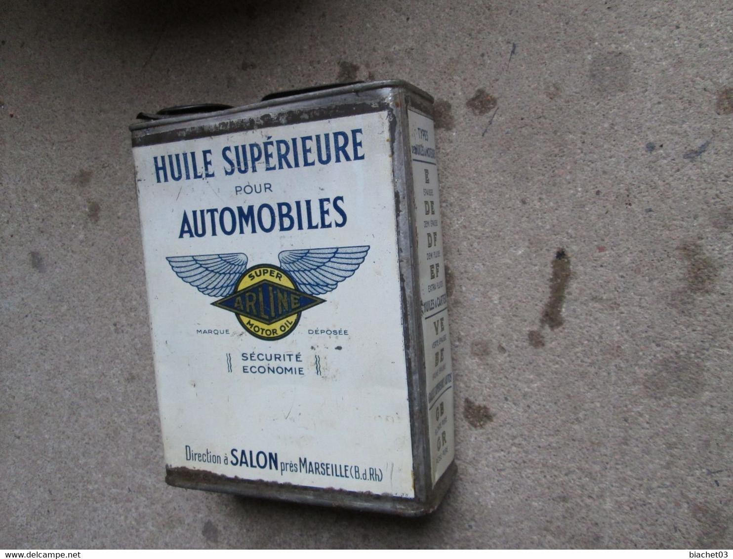 Bidon D'huile Ancien  (AIRLINE)  RARE - Cars