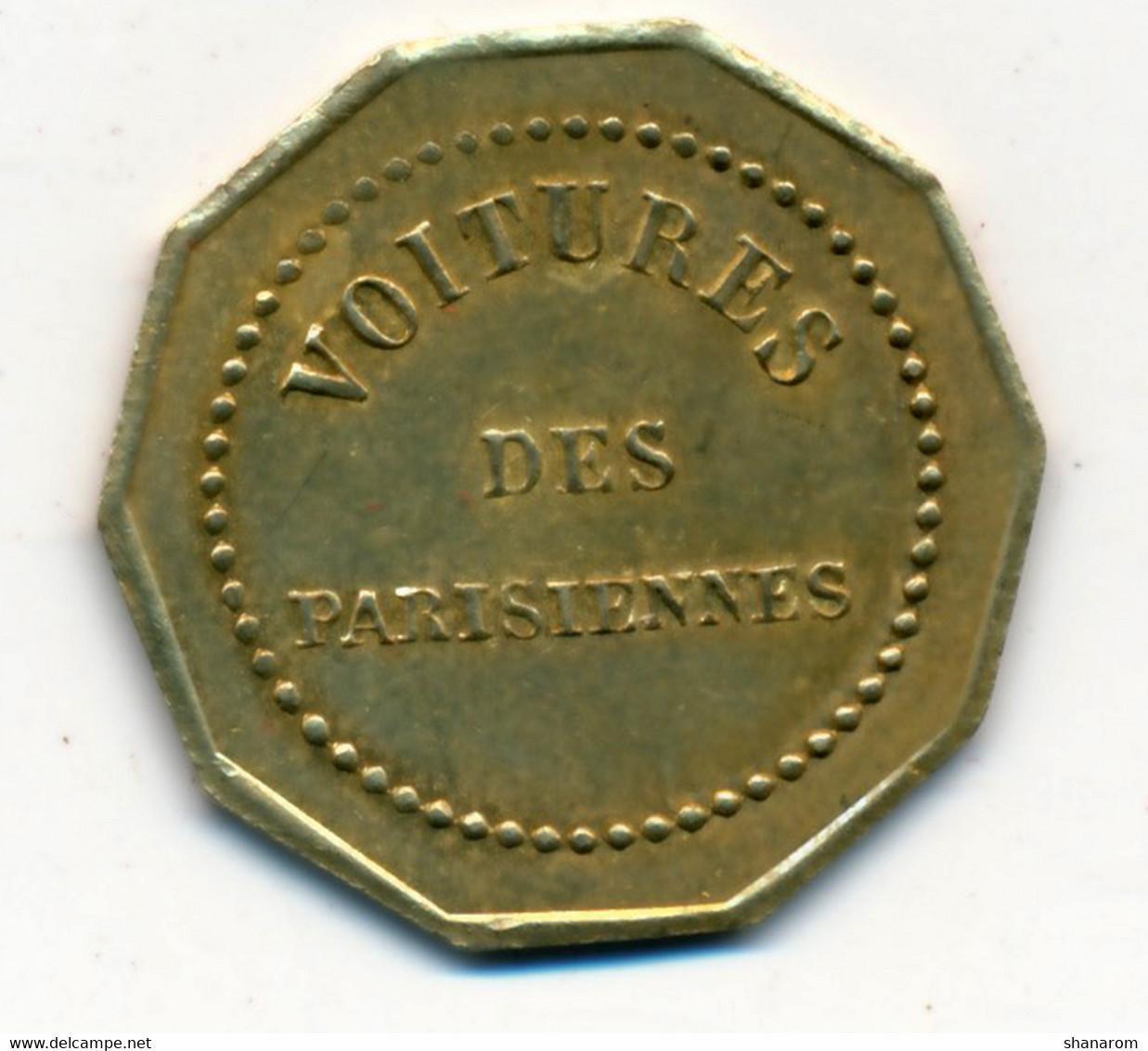 RARE // JETON De TRANSPORT // Compagnie De VOITURES OMNIBUS // VOITURES DES PARISIENNES - Unclassified