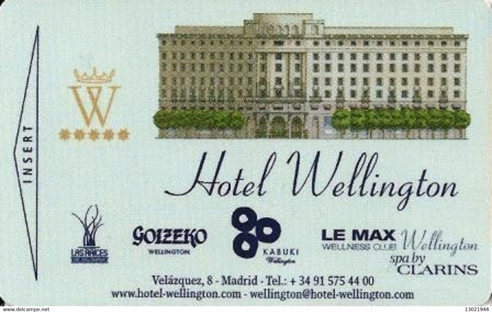 SPAGNA  KEY HOTEL  Wellington - Montejo Joyeros - ROLEX  - Datejust Lady 31 - MADRID - Cartes D'hotel