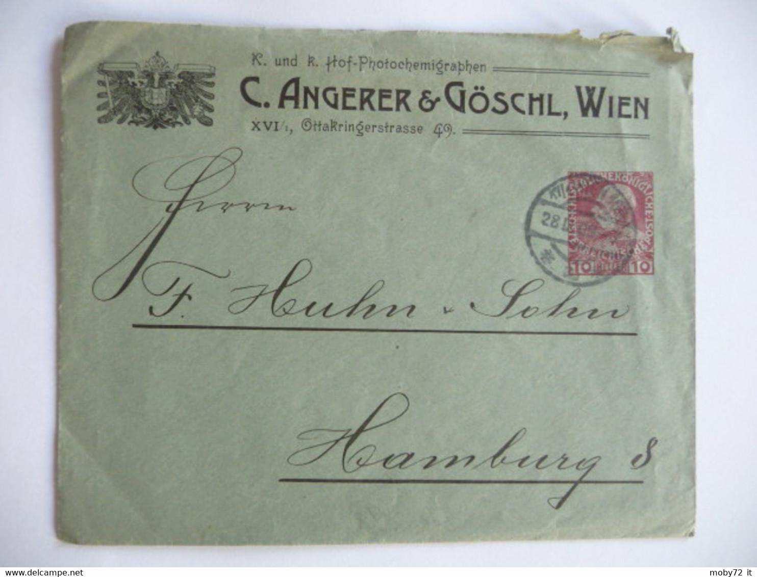 Austria - 1909 - Brief - Angerer & Goschl - Brieven En Documenten