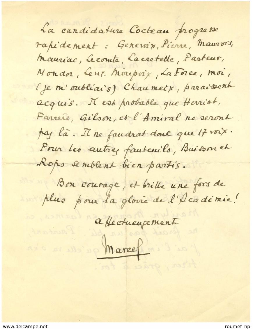 PAGNOL Marcel (1895-1974), écrivain Et Cinéaste, De L'Académie Française. - Autógrafos