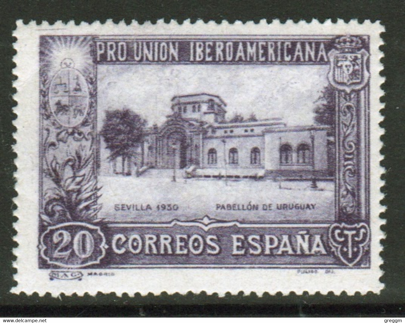 Spain 1930 Single Stamp Issued To Celebrate The Spanish American Exhibition. - Ungebraucht