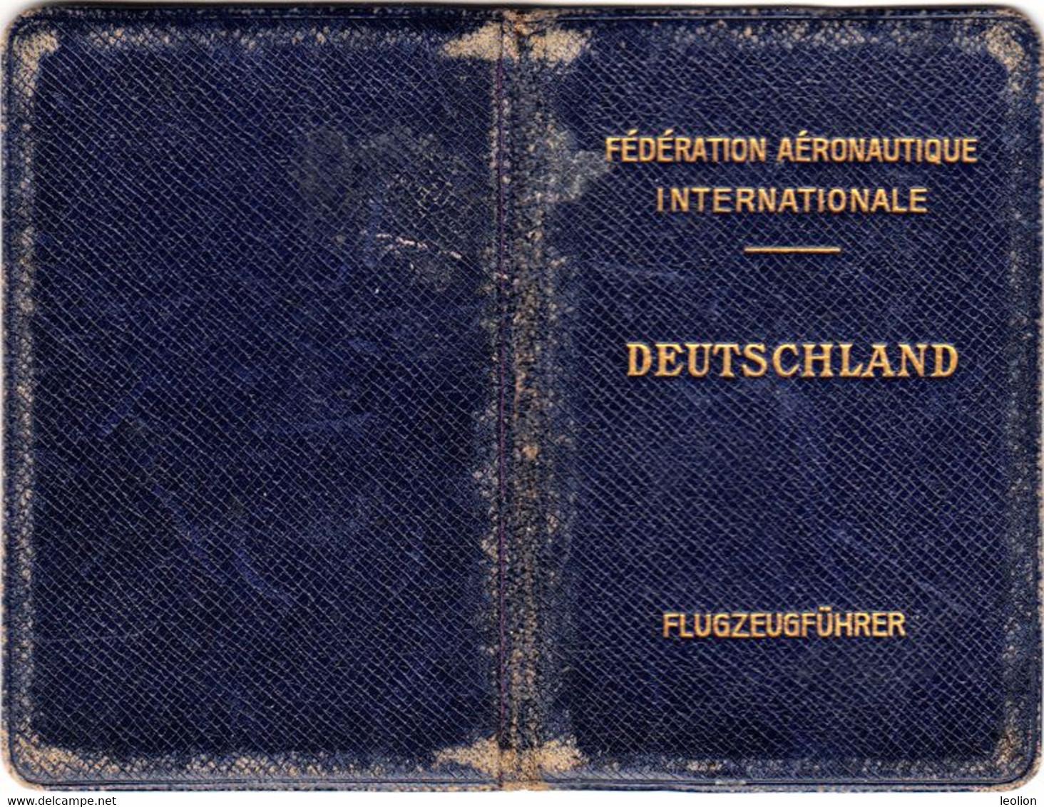 Original Antique German Pilot License Of 1916 For A Two-decker Plane Flugzeugfuehrer Brevete Pilote Aviateur - Historical Documents