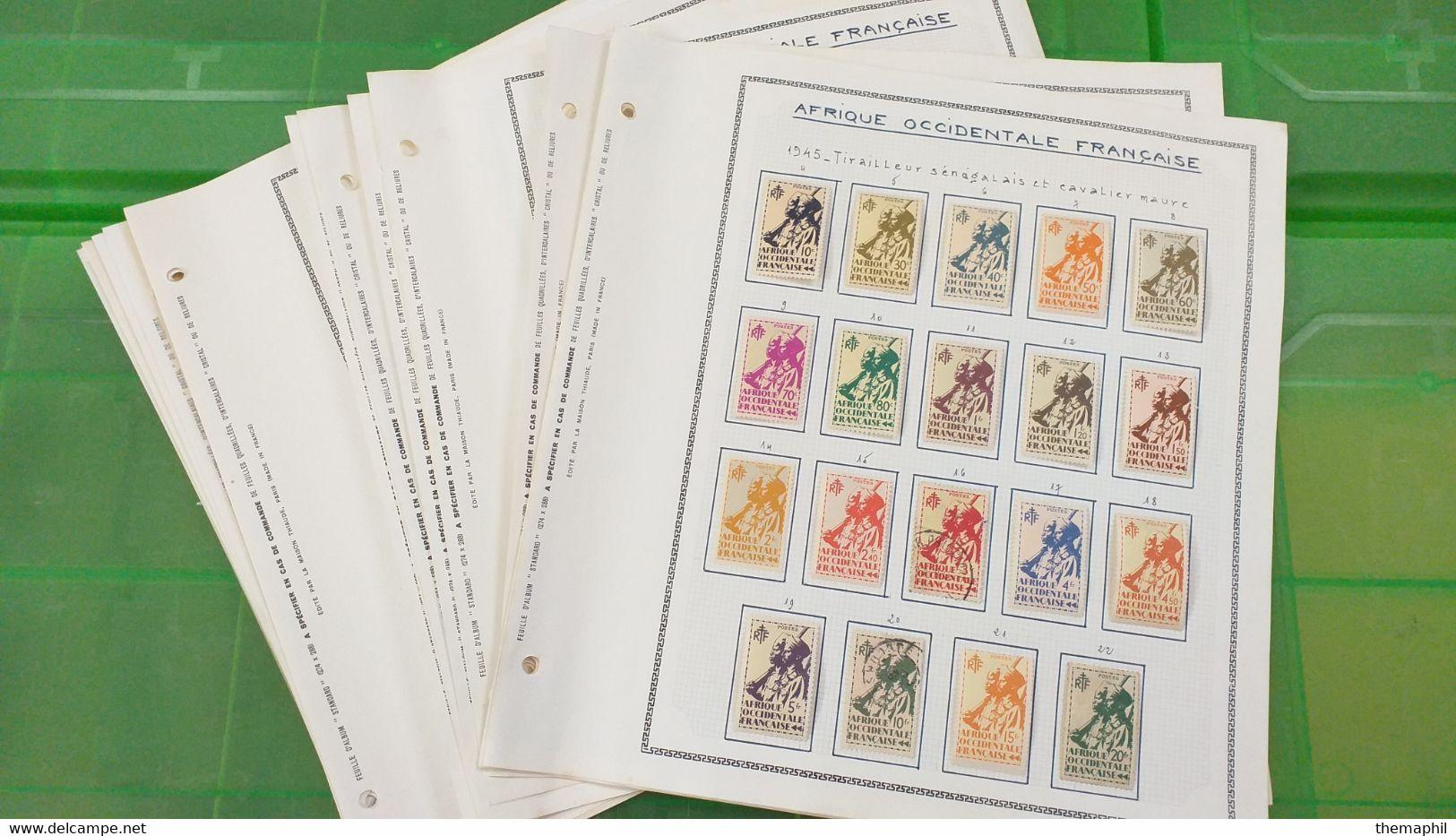 Lot N° TH 661 COTE DES SOMALIS Et Divers  Neufs Ou Obl. Sur Page D'albums - Sammlungen (im Alben)