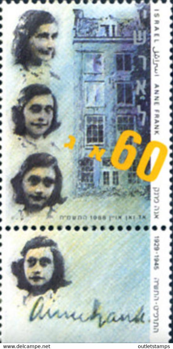 Ref. 129624 * NEW *  - ISRAEL . 1988. HOMAGE TO ANNA FRANK. HOMENAJE A ANNE FRANK - Nuevos (sin Tab)