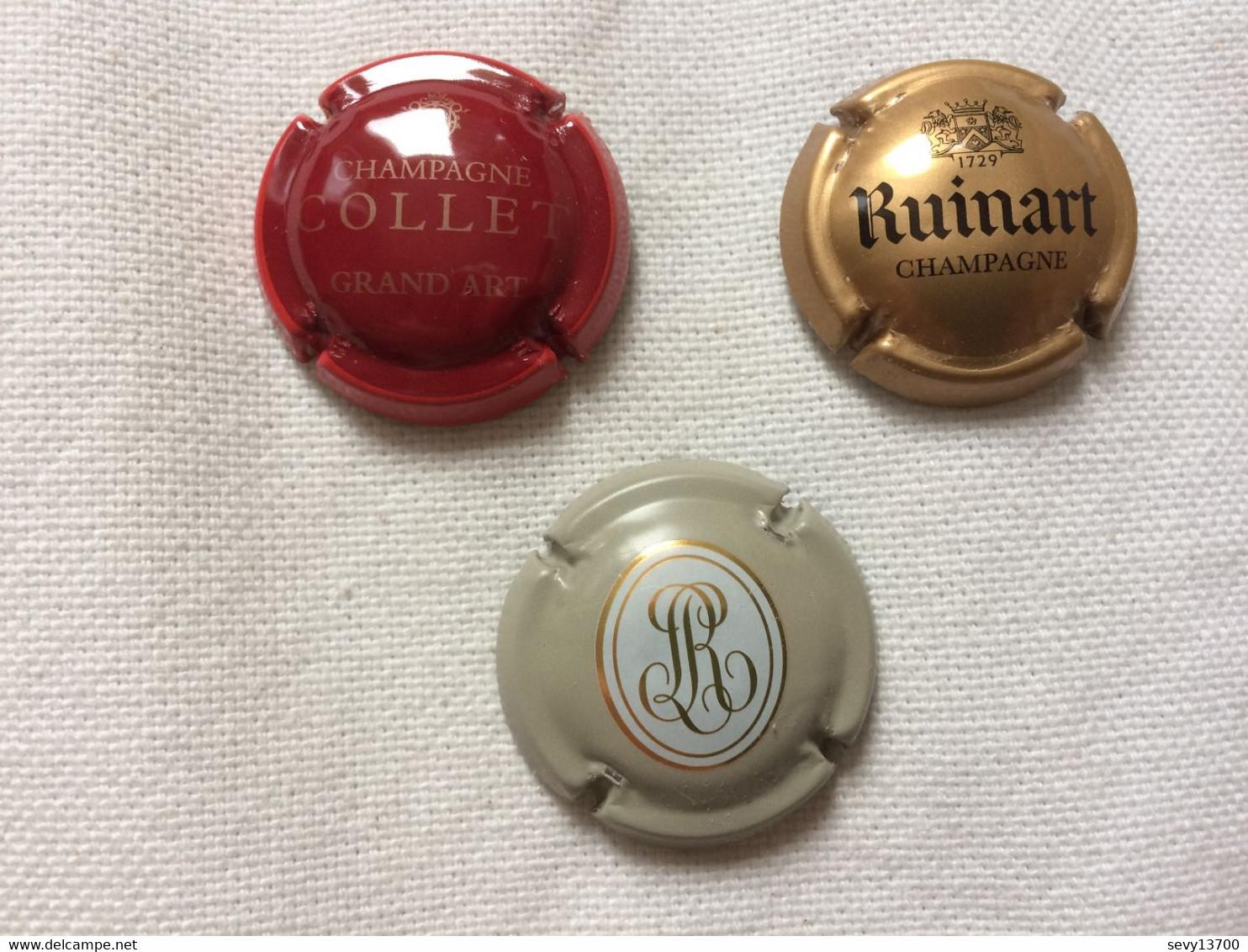 6 Capsules De Champagne - Ruinart - Collet Grand Art - Brice - Otros