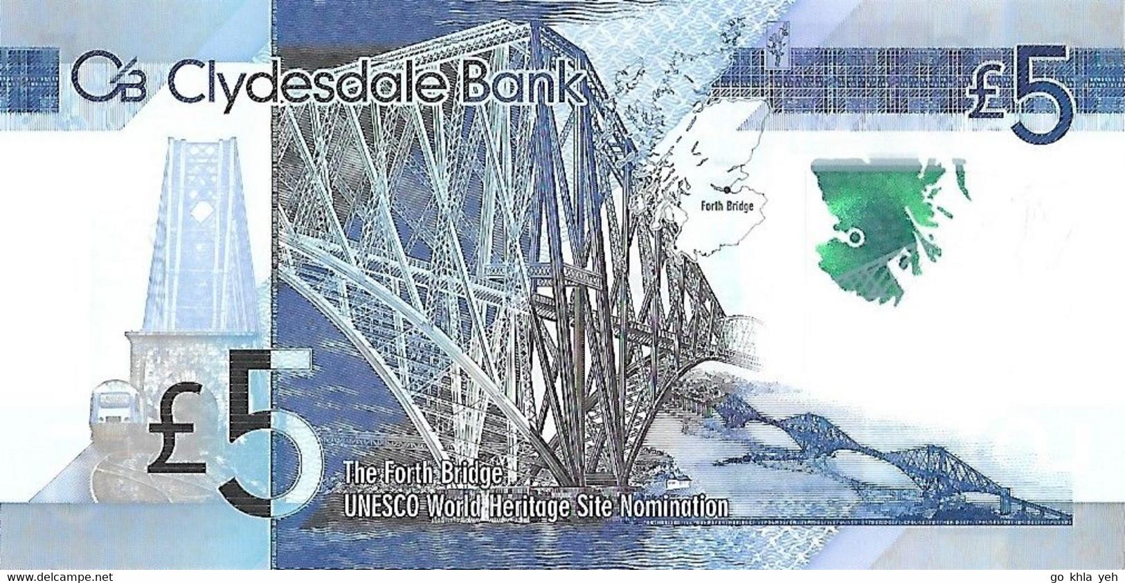 ROYAUME-UNI - ECOSSE 2015  5 Pound - P.229N Neuf UNC - Collezioni