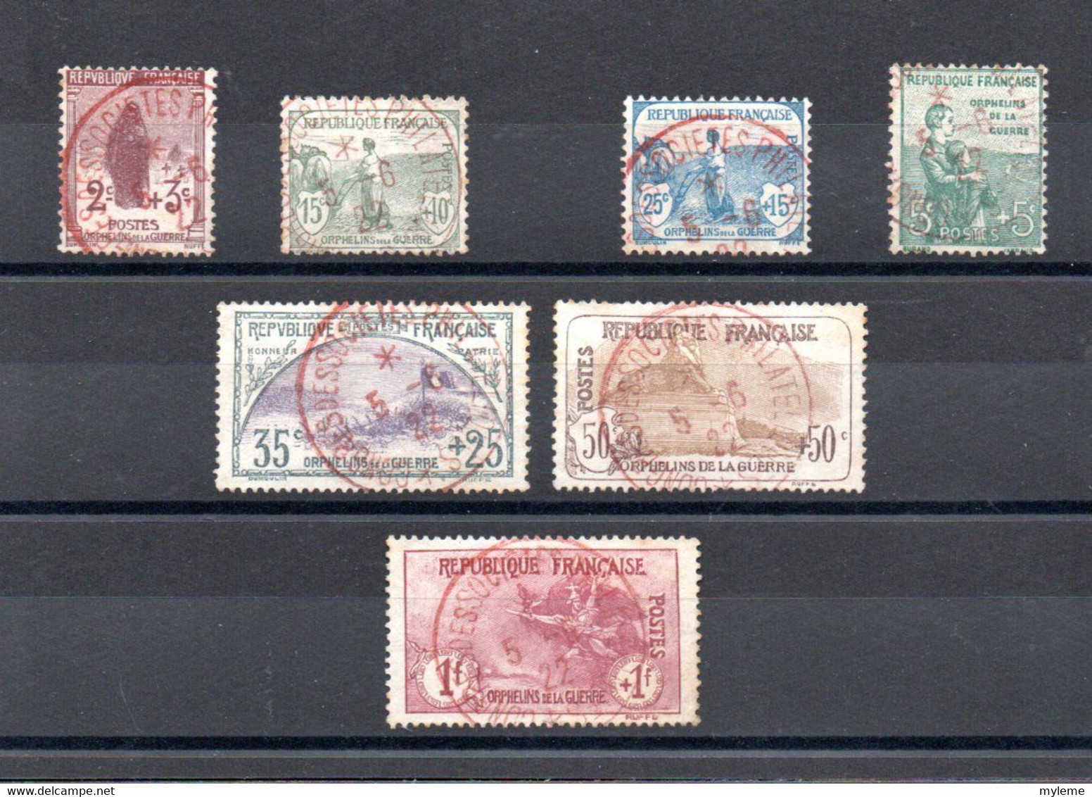 O1 Carton 28 Kgs Dont N° 148 à 154 Oblitération Rouge + Bande N° 242A Oblitérée Signée Côte++..Voir Commentaires !!! - Lots & Kiloware (mixtures) - Min. 1000 Stamps