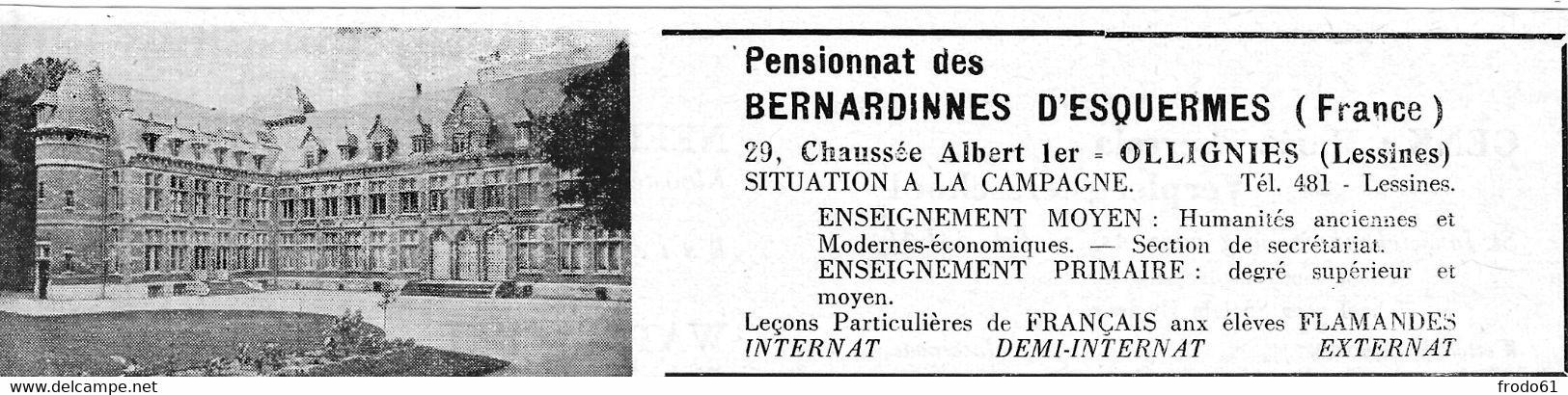1956, KNIPSEL, COUPE DU REPERTOIRE BELGE, OLLIGNIES, PENSIONNAT DES BERNARDINES D'ESQUERMES - Lessines