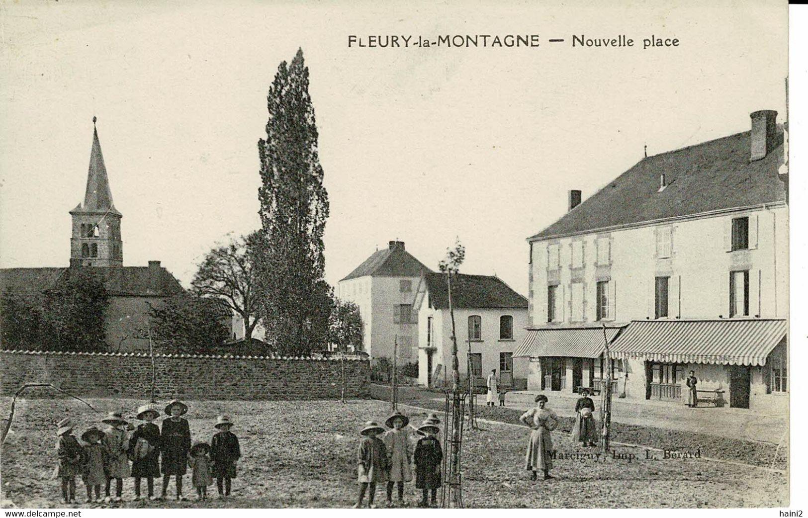 FLEURY LA MONTAGNE NOUVELLE PLACE TRES ANIMEE - Otros Municipios