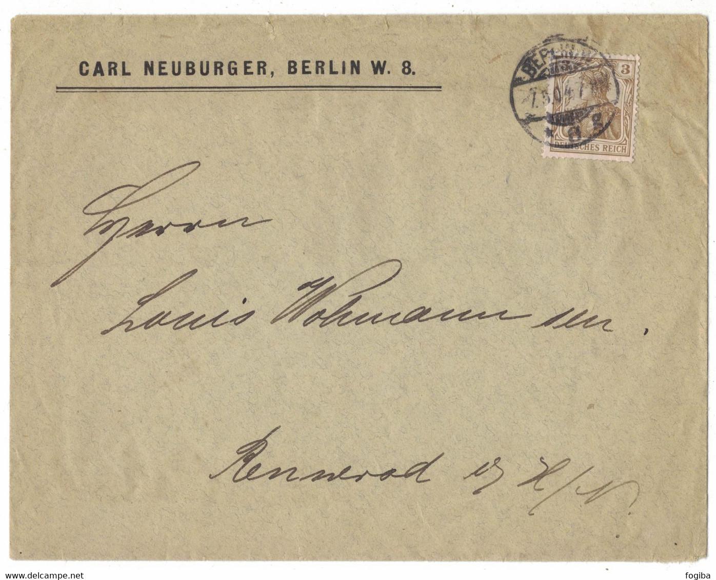 JB220    Brief Aus Berlin 1902 Nach Rennerod - Storia Postale