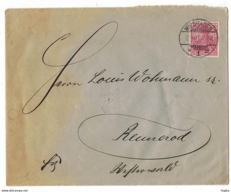 JB221    Brief Aus Wiesbaden 1901 Nach Rennerod - Cartas