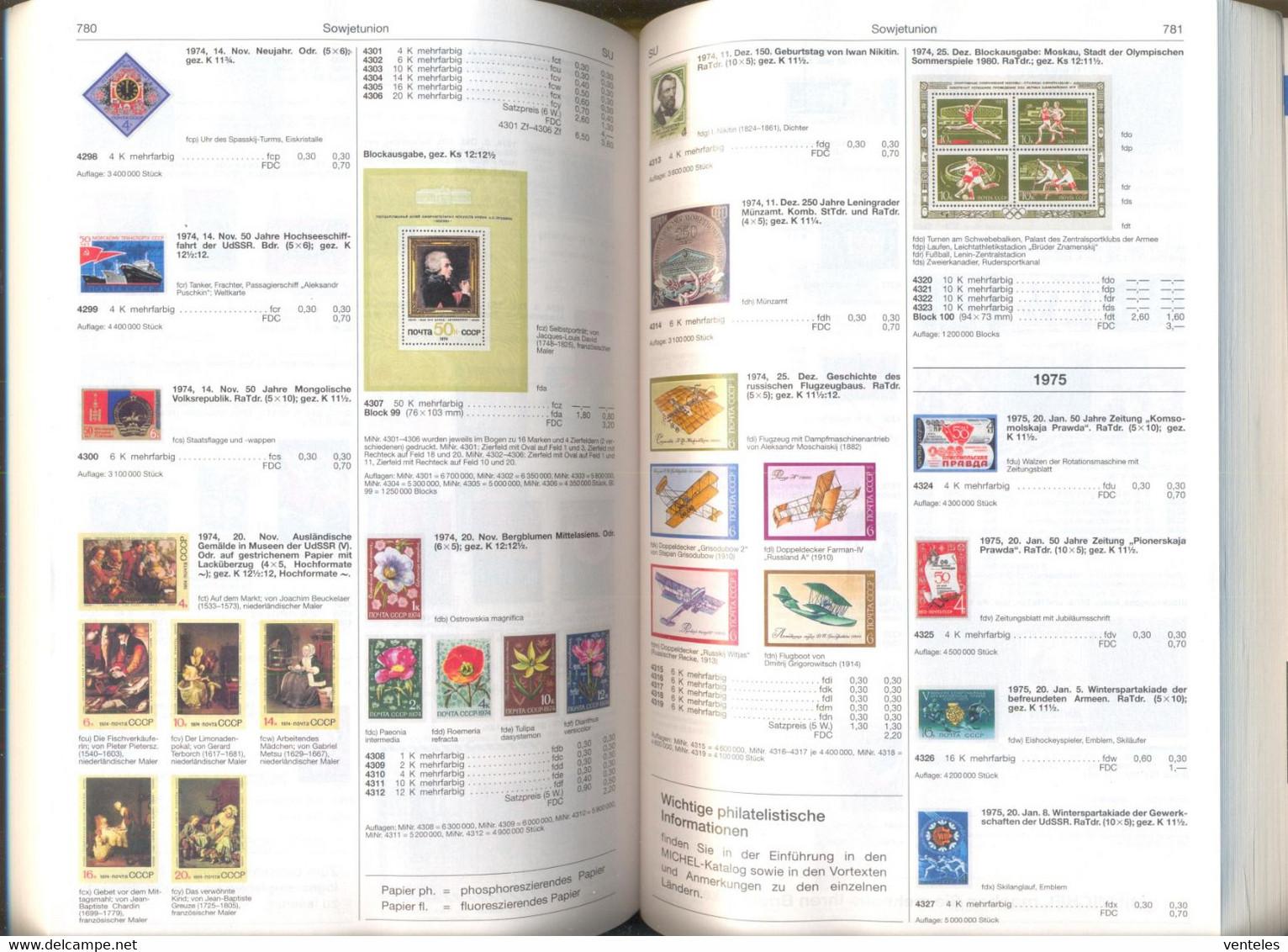 USSR 20.11.1974 BLOCKS OF 4 Mi # 4301-06 SQUARE VIGNETTE, Paintings Of The European Masters MNH OG - Nuevos