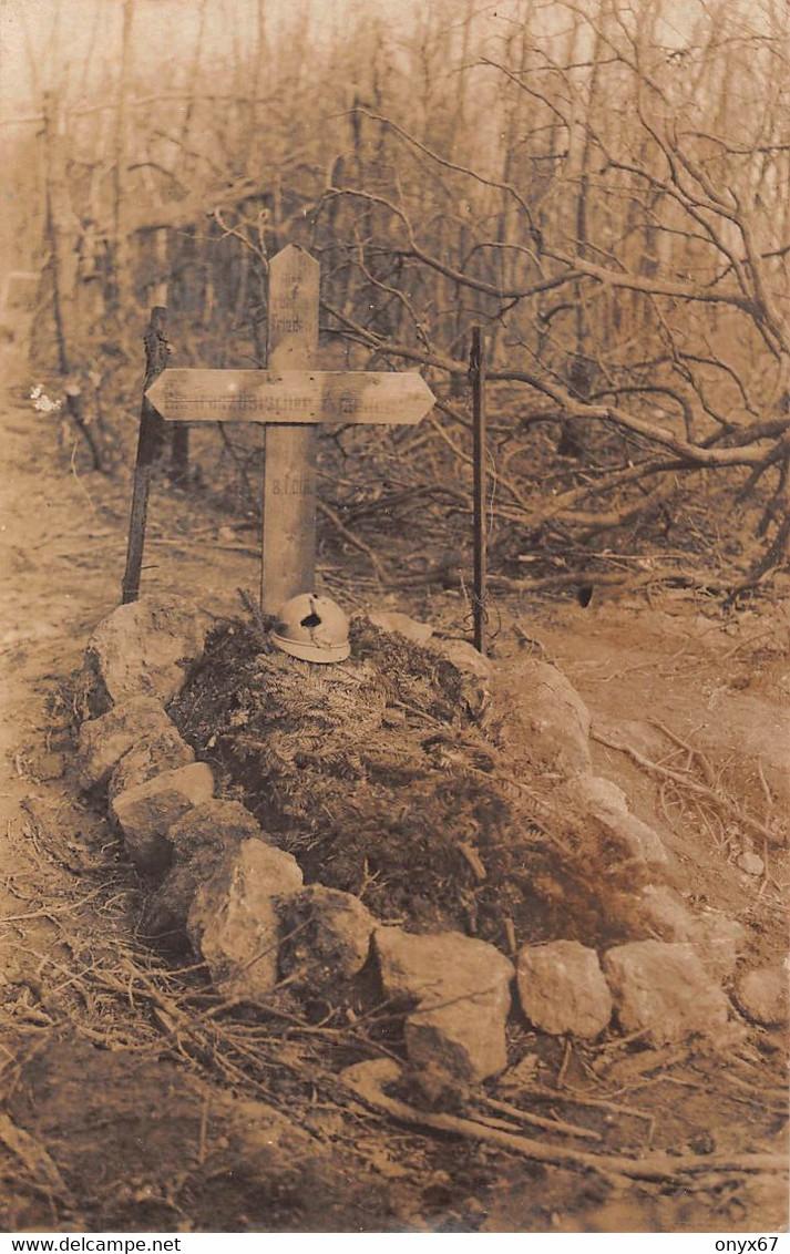 Carte Photo Militaire HARTMANNSWILLERKOPF-HARTMANNSWEILER-VIEIL ARMAND-Haut-Rhin-Cimetière F. Grab-Friedhof-Guerre 14/18 - Otros Municipios