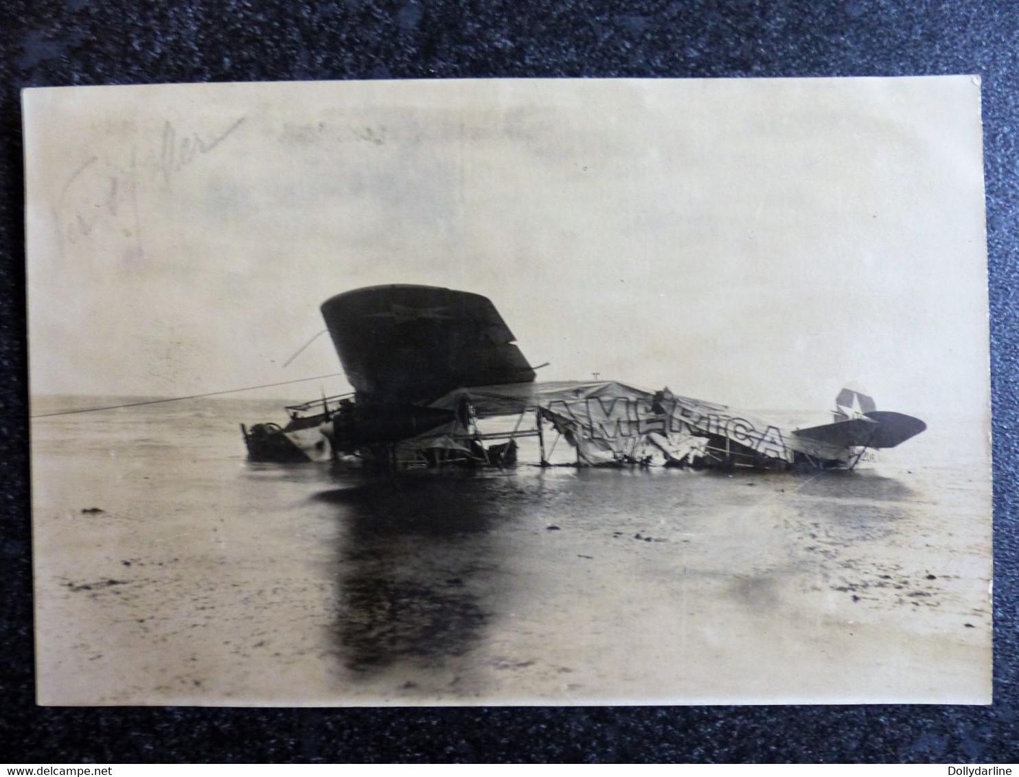 CPA CARTE PHOTO GUERRE 1914 1918 AVION América à VER Sur MER - Guerra 1914-18