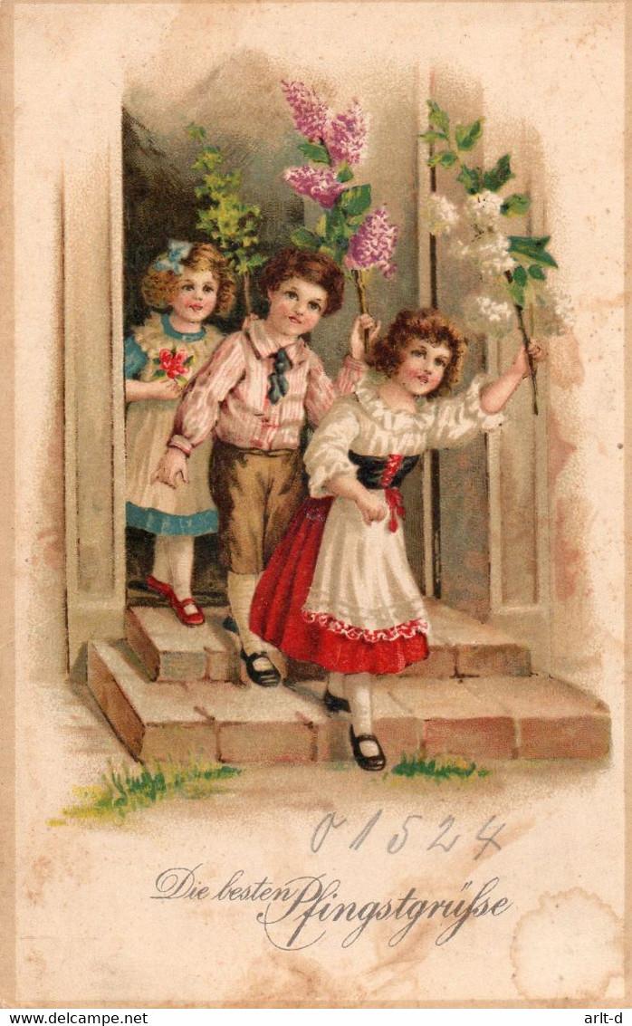 DC4656 - Schöne Motivkarte Pfingsten Kinder - Pentecoste