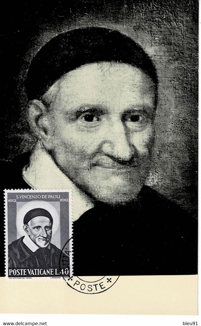 CM VATICAN SAINT VINCENT DE PAUL - Cartoline Maximum