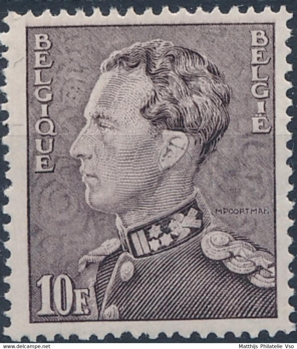 [** TB] N° 434B, 10F Gris-lilacé - Cote: 210€ - 1936-1951 Poortman