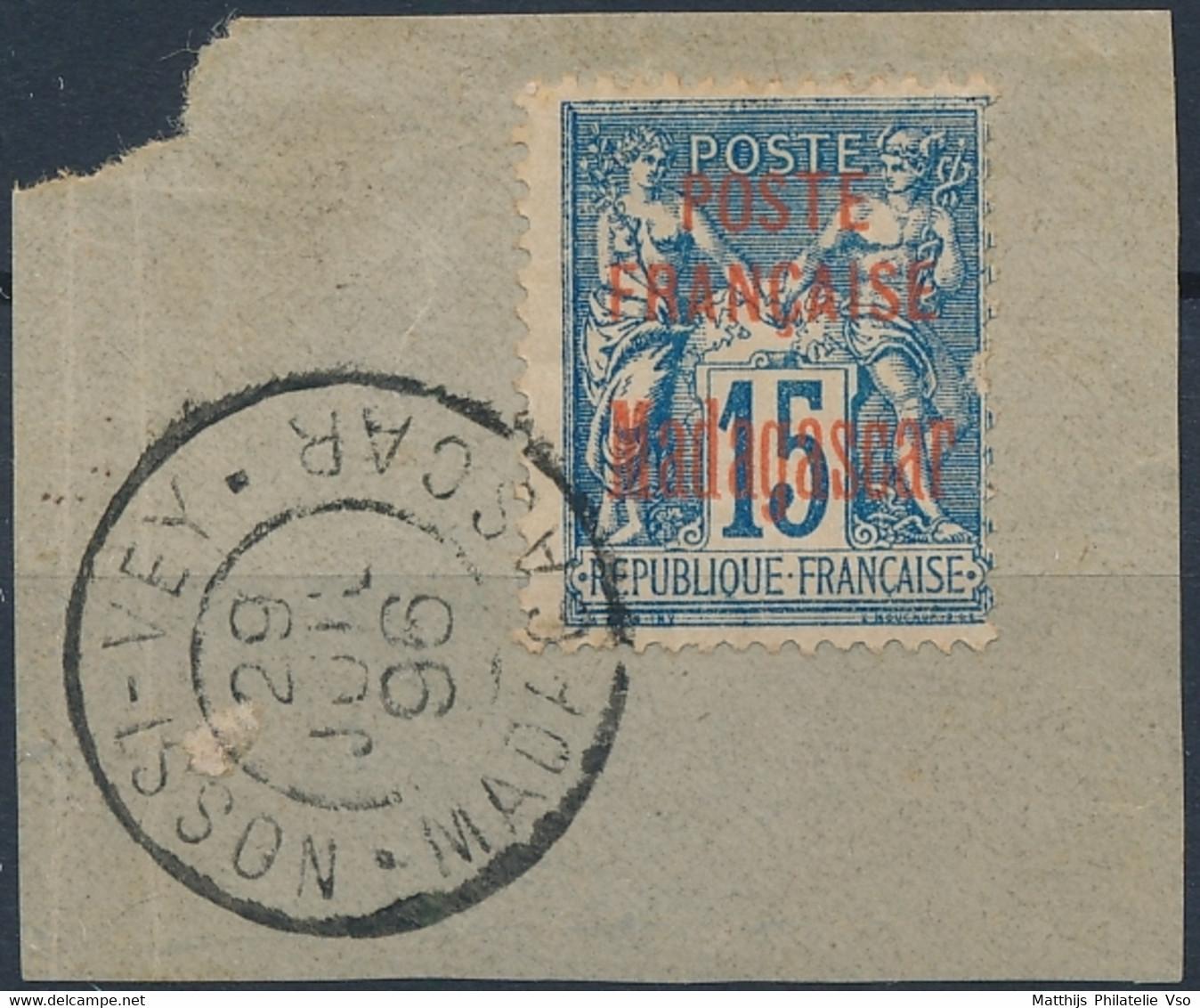 [O SUP] N° 16, 15c Bleu Sur Fragment Superbement Oblitéré - Cote: 26€ - Sin Clasificación