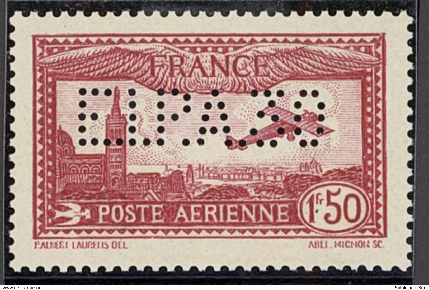 "X France Air Mails 1930 ""EIPA 30"" (Exposition Internationale De Poste Aérienne) 1f. 50 Carmine, Unmounted Mint; Slightly - Sin Clasificación"
