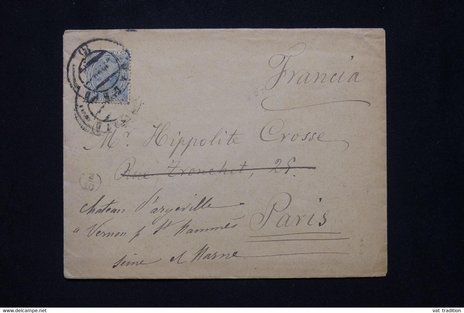 ESPAGNE - Enveloppe De Madrid Pour La France En 1890 - L 79823 - Cartas