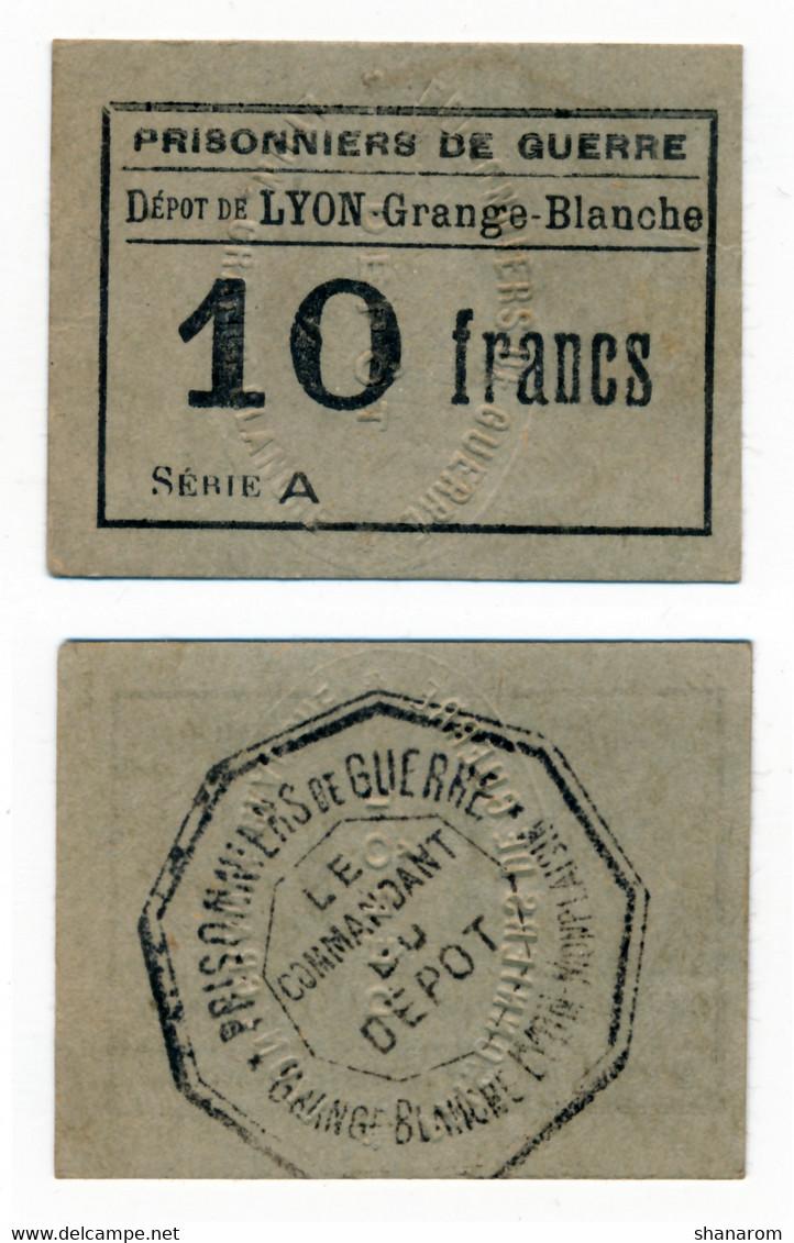 1914- 1918 // P.O.W. // Bon De Prisonnier De Guerre // LYON-MONPLAISIR // 10 Francs - Bonds & Basic Needs