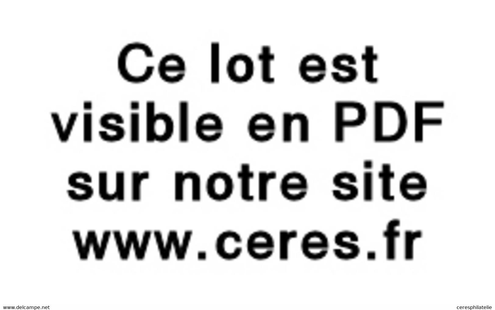 Let OBLITERATIONS PAR DEPARTEMENTS - 26/EURE N°14A Obl. PC S. Env., Càd T15 BEUZEVILLE 19/5/57, Taxe 30 Et Boite F + Dos - 1849-1876: Classic Period