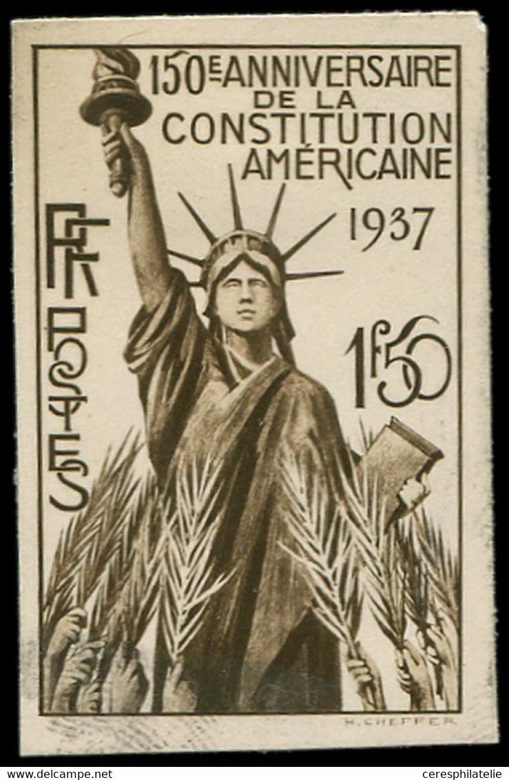 Collection Henri Cheffer - 357   Constitution Des Etats-Unis, Projet Non Retenu, Maquette En Sépia, TB - Altri