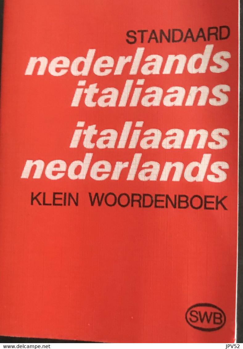 (401) Klein Woordenboek - Ned.- Ital. & Ital.- Ned. - Standaard - 451p - Dictionaries