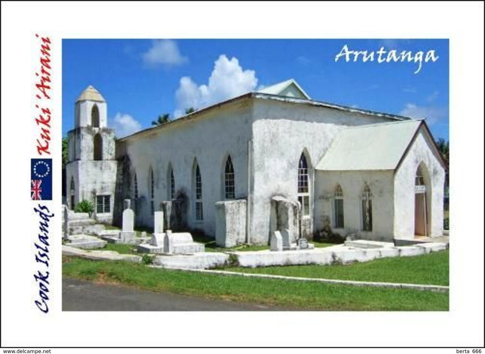 Cook Islands Aitutaki Arutanga Church New Postcard Cookinseln AK - Cookeilanden