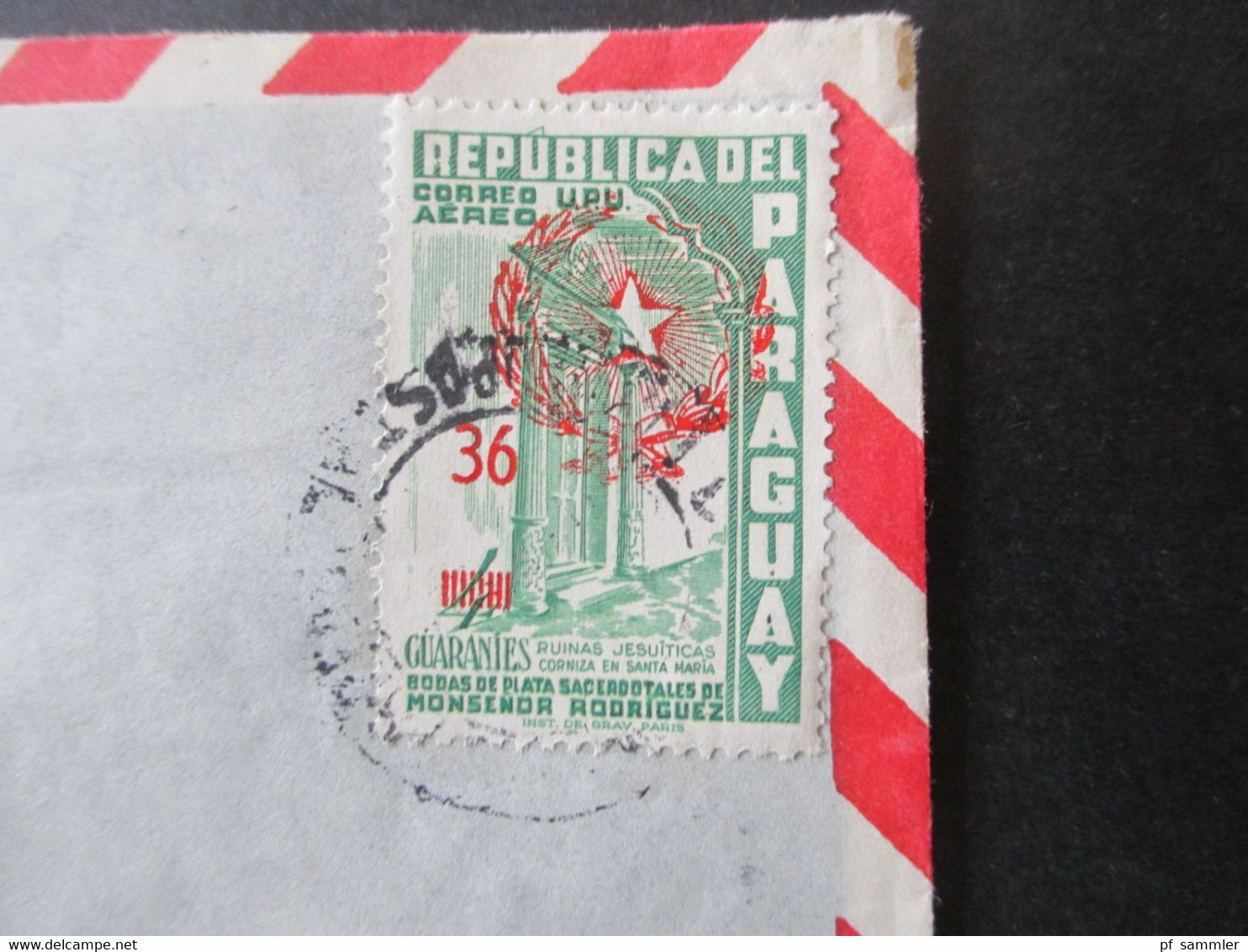 Paraguay 1959 Flugpostmarke Nr. 824 EF Luftpostbrief Domingo Scavone Asuncion Nach Mainz Gesendet - Paraguay