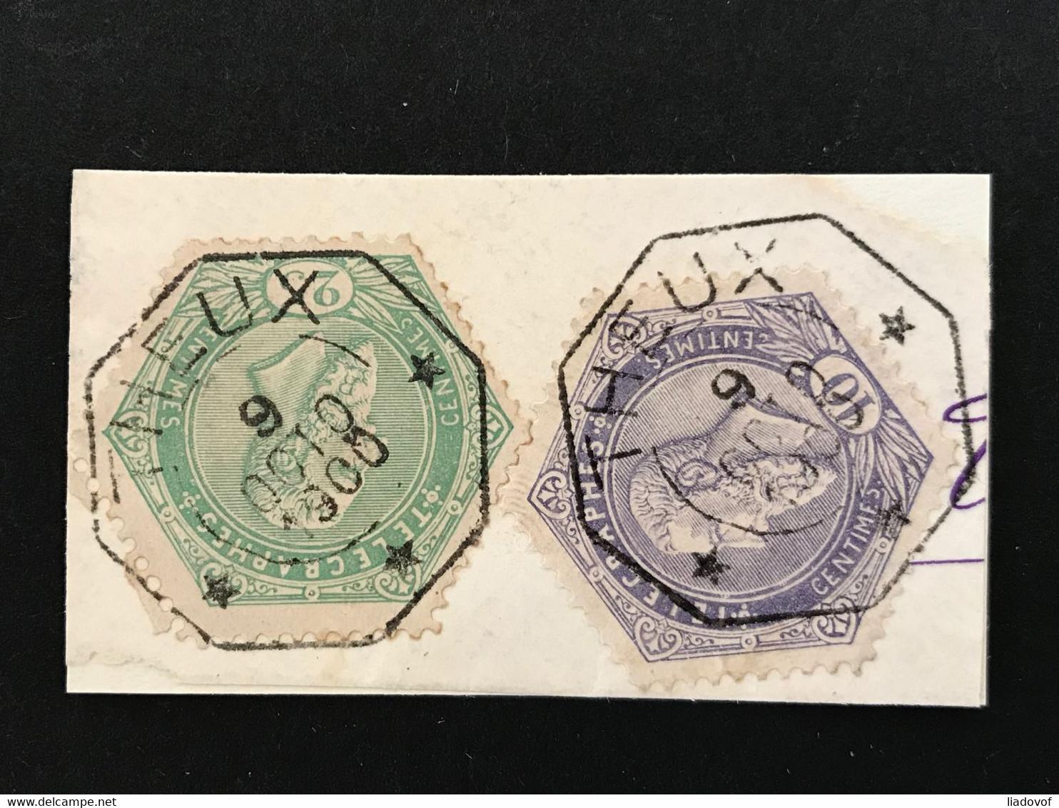 TG11+12 Gestempeld Op Fragment THEUX - Telegrafo