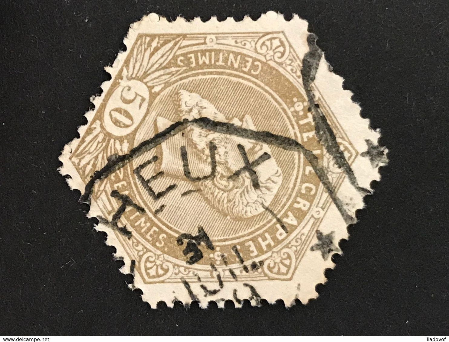 TG13 Gestempeld THEUX - Telegrafo