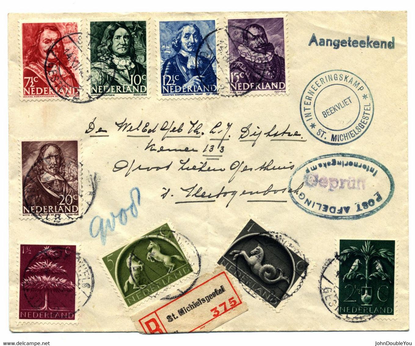 Aangetekende Brief Van St. Michelsgestel Naar 's-Hertogenbosch 1943 - Non Classificati