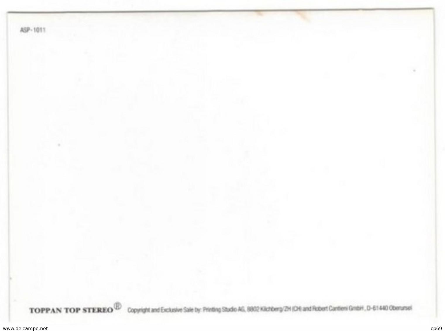 Carte En Relief 3D Lenticulaire Lenticular Génie Genius 10,5 Cm X 14,6 Cm ASP-1011 TB.Etat - Altri