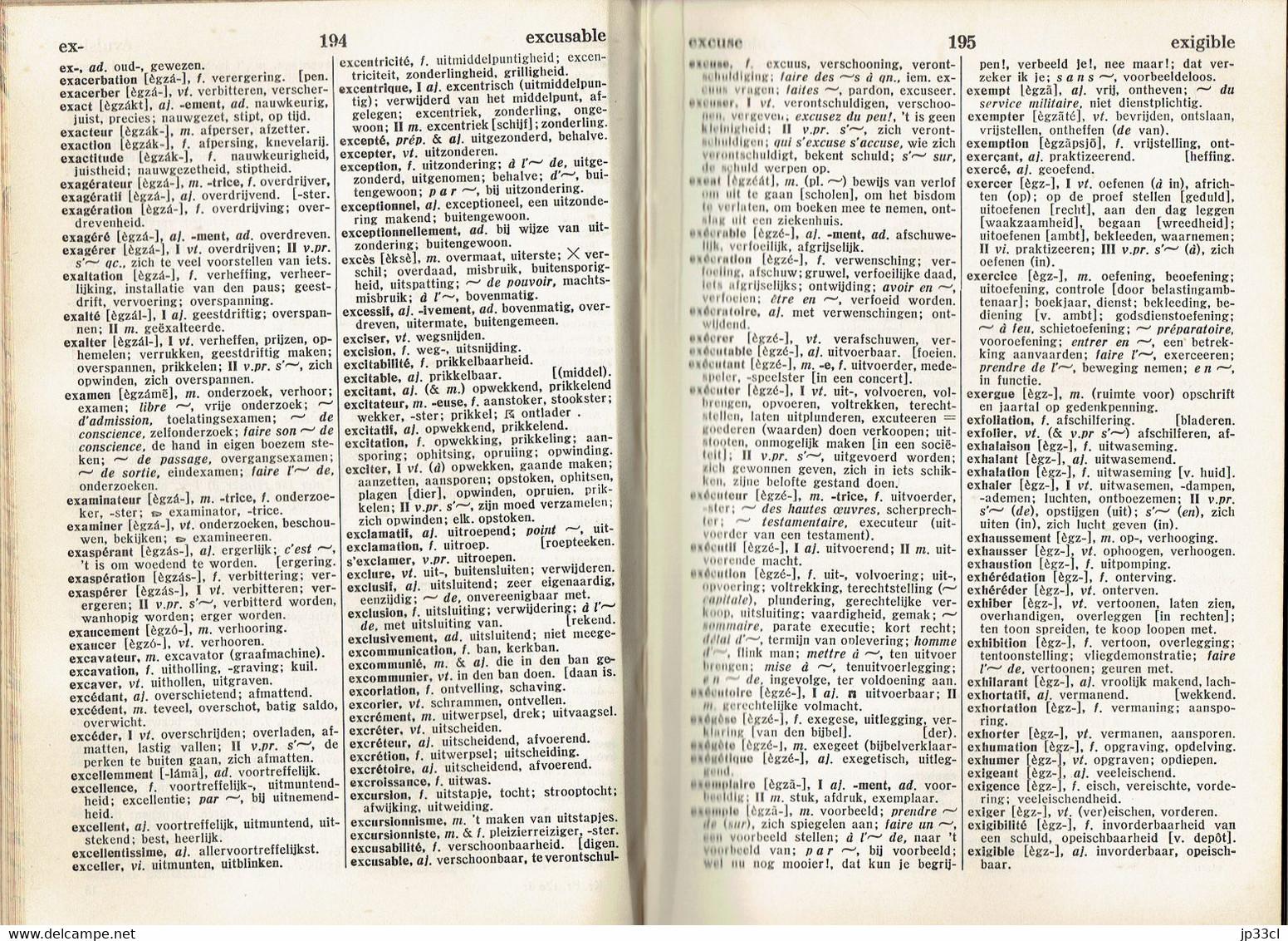 Kramer's Fransch Woordenboek, Twaalfde Druk, Den Haag G.B. Van Goor Zonen (1932) In Perfekte Staat ! - Woordenboeken
