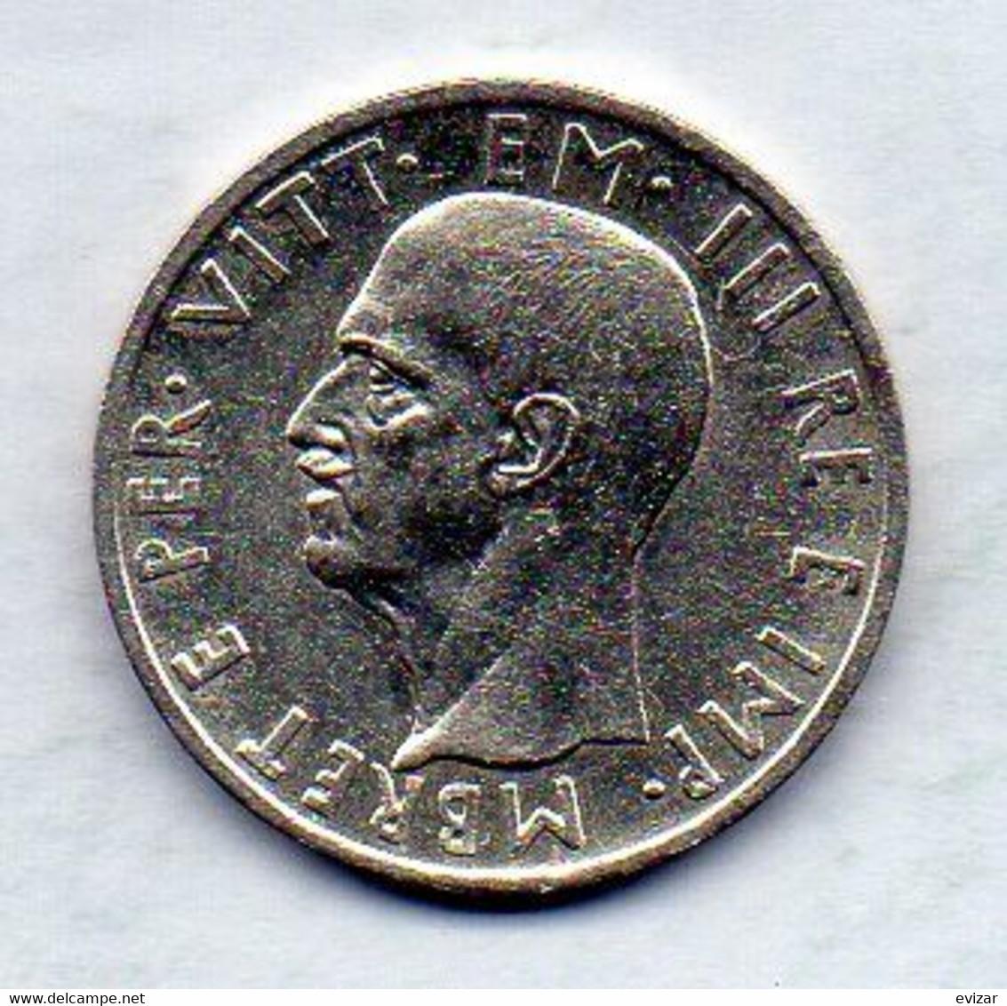 ALBANIA, 5 Leke, Silver, Year 1939, KM #33 - Albania
